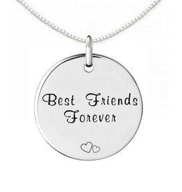 KAYA sieraden Zilveren Ketting 'Best Friends'
