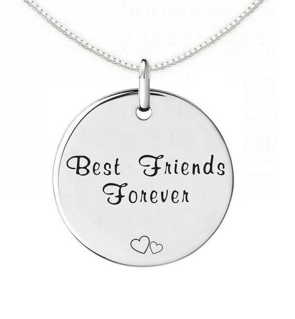 KAYA sieraden Zilveren Vriendschapskettingen 'Best Friends Forever'