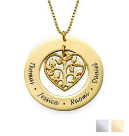 Necklace with names 'Family Pedigree'