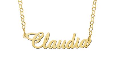 Sieraden Naamketting 'Claudia' in naam van je keuze