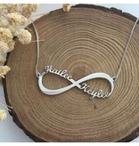 Gegraveerde sieraden Infinity gold plated necklace 'Two names' - Copy