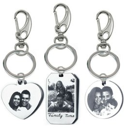 Gepersonaliseerd Keychain with photo and text