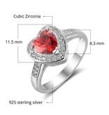 Gepersonaliseerde sieraden Zilveren Gepersonaliseerde Ring 'Majesty' met Geboortestenen en Gravure