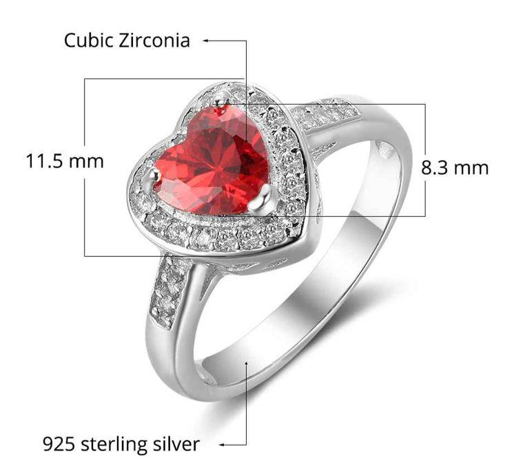 Gepersonaliseerde sieraden Zilveren geboortesteenring 'Majesty' met gravure
