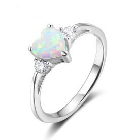 KAYA sieraden Silver ring with opal stone