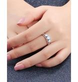 KAYA Zilveren ring met opaal stenen '3 hearts'
