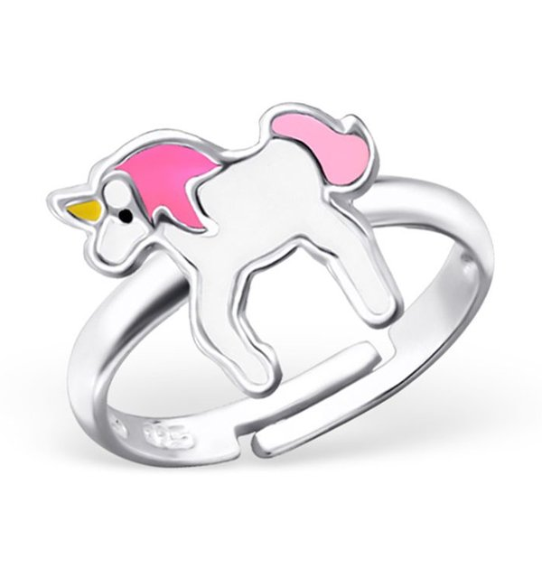 KAYA sieraden Zilveren Kinderring 'Unicorn'