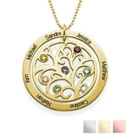 Silver Necklace 'Filigree Tree Rondje' - Copy