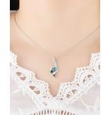 Necklace with birth stones 'three hearts' - Copy