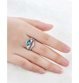 Zilveren ringen met geboortestenen 'claddagh'
