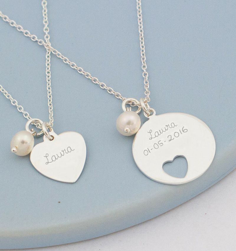 KAYA Silver mom & me necklaces 'In My Heart'