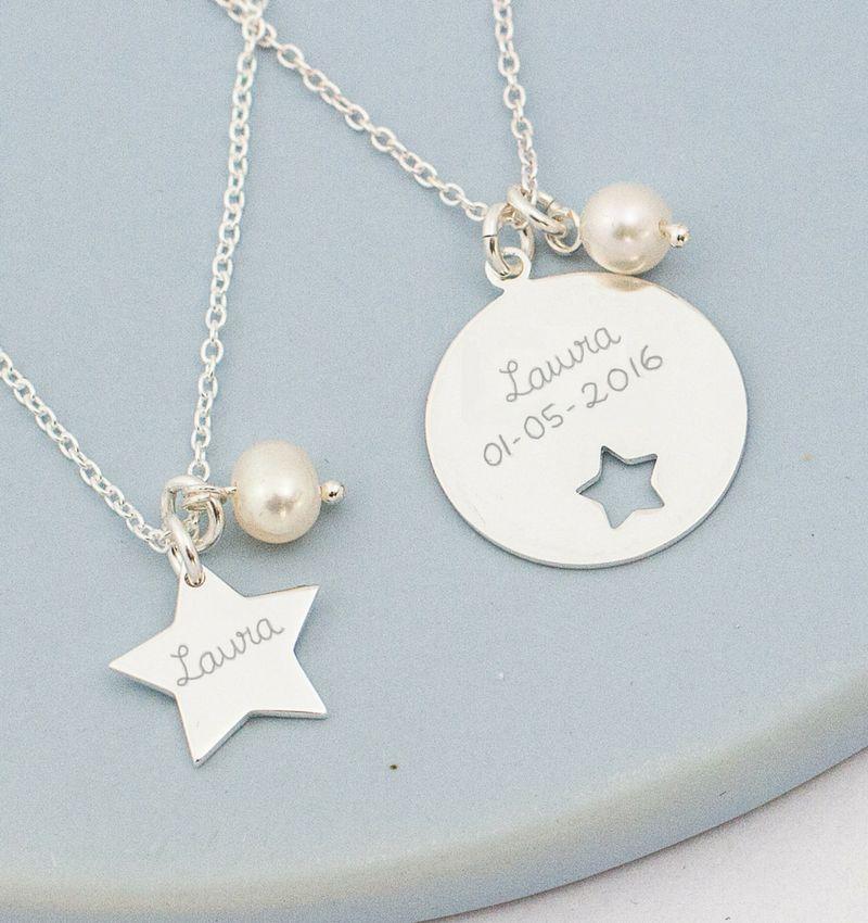 KAYA Zilveren Mom & Me kettingenset 'My Star'