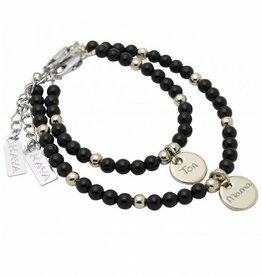 KAYA sieraden Mom & Me set 'Black Onyx'