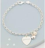 "Personalized silver bracelet 'Love you Infinitely "" - Copy"