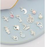KAYA sieraden Zilveren armbanden Set + 'Kies je bedels'