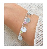 KAYA sieraden Charm Bracelet 'Choose Discs & Birth Stones'