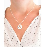 handgravure Mamakado: silver necklace 'Triple Eternity' - Copy