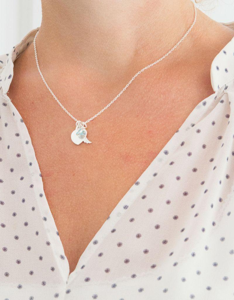 KAYA sieraden Zilveren Ketting 'Angel' met gravure