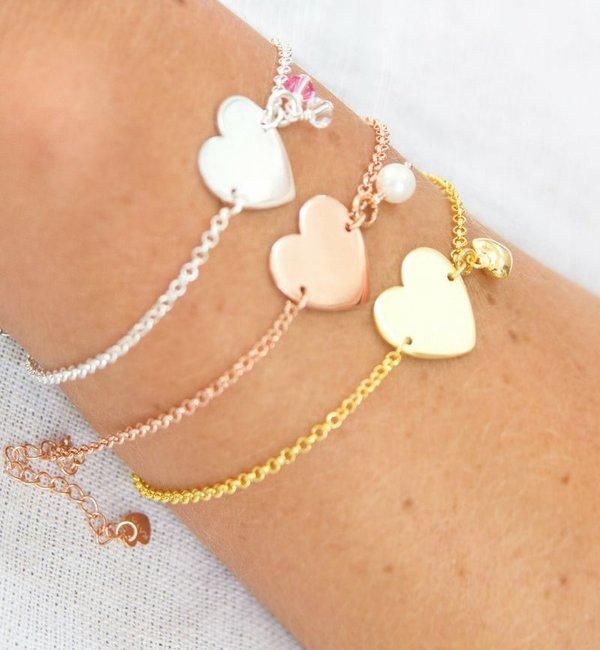 KAYA sieraden Cadeaudoosje 'Jullie kindje wordt gedoopt, gefeliciteerd!' met zilveren armbandje 'Sweetheart'