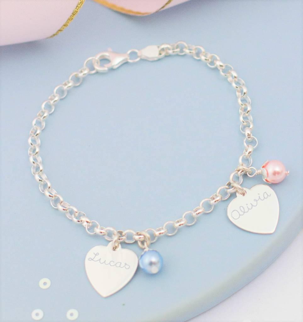 Trendy silver bracelets mom & me jasseron - Copy
