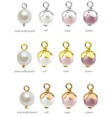 KAYA sieraden Silver Pearl charms (for on bracelet or necklace)
