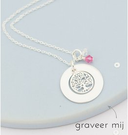 handgravure Silver pedigree necklace 'family tree' - Copy - Copy