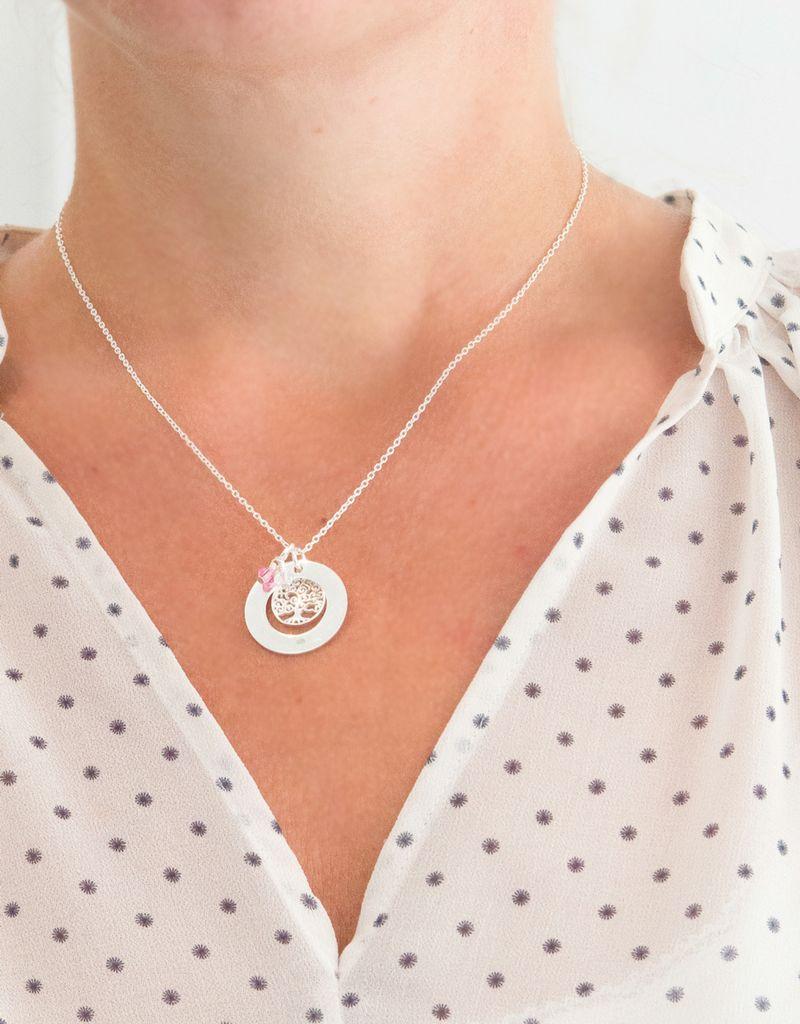 Sieraden graveren Silver pedigree necklace 'family tree' - Copy - Copy