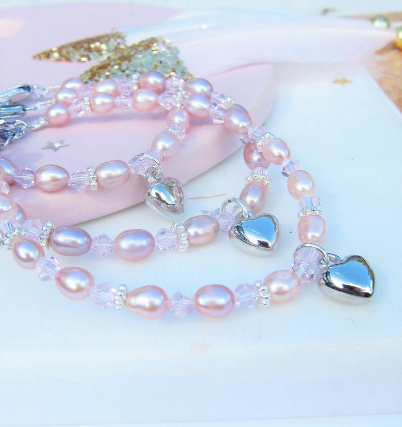 KAYA sieraden GrandMa & Mom & Me set 'Princess' with heart