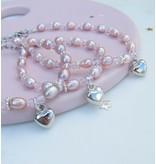 KAYA 3 generatie armbanden 'Pink Princess' met hartje