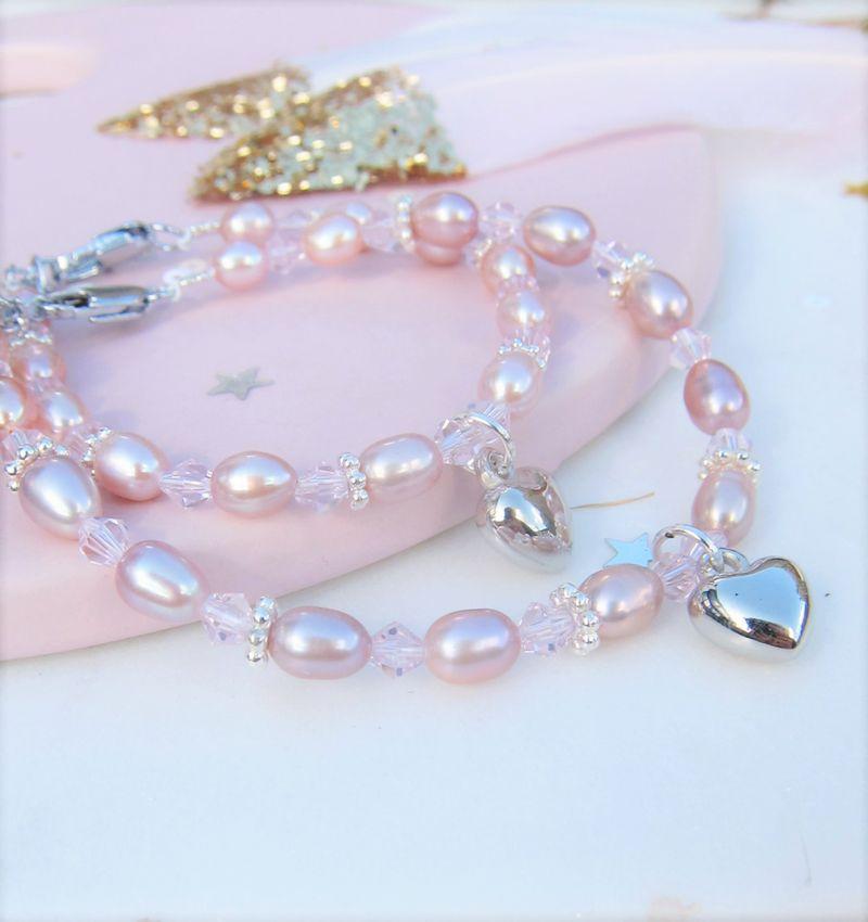 KAYA Mom & Me set 'Pink Princess' with Key to My Heart,