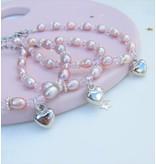 KAYA sieraden Mom & Me set 'Pink Princess' with Key to My Heart,