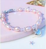 KAYA Kinderarmband 'Pink Princess' met hartje