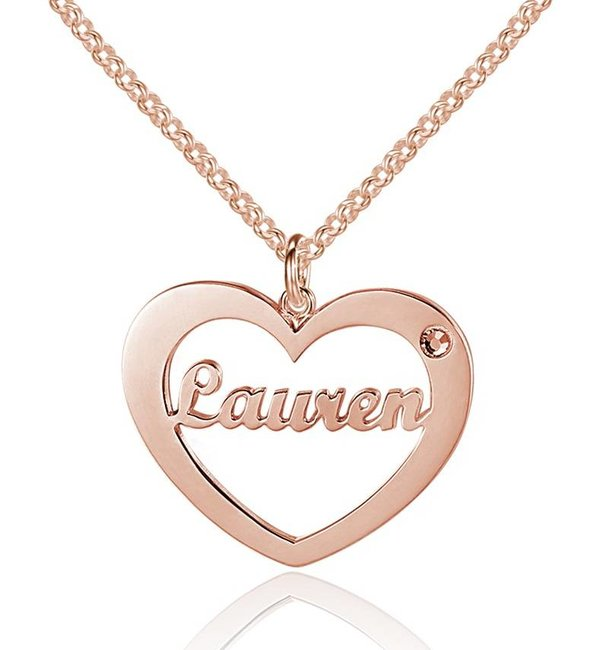 Gepersonaliseerde sieraden Silver necklace with birthstone and name