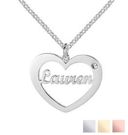 Gegraveerde sieraden Naamketting 'My Love'