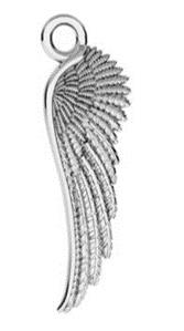 KAYA Zilveren gepersonaliseerde ketting 'Angel Wings'