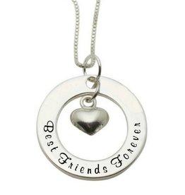 Zilveren ketting 'Best Friends'
