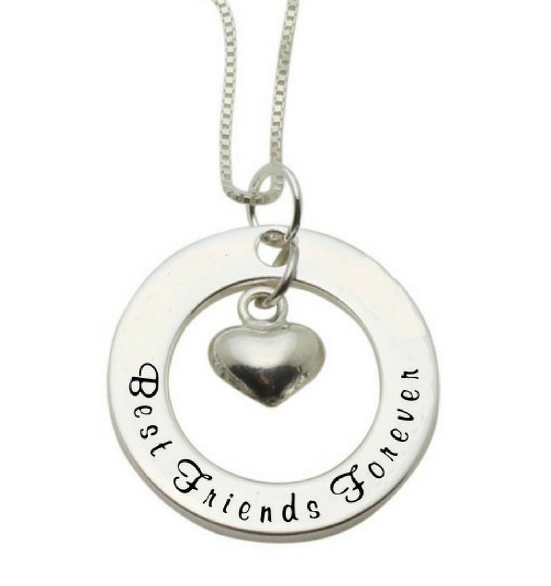 Zilveren ketting 'Best Friends Forever'