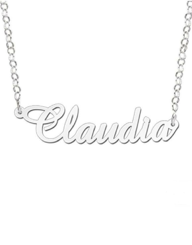 Names Name Necklace 'Claudia' in the name of your choice