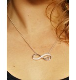 KAYA Zilveren infinity ketting 'Forever in my Heart'