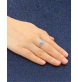 KAYA Zilveren ring 'Blue Opal' met opaalsteentje