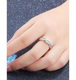 KAYA sieraden Silver ring with opal stone '3 hearts' - Copy - Copy