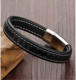 Mannen armband 'leather'