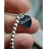 Zilveren armband 'Cute Balls' Groot hartje