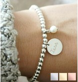 Silver bracelet 'Cute Balls' with Bead & Pearl