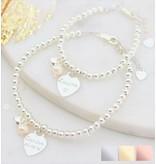 KAYA Silver bracelets set 'Cute Balls' engraved