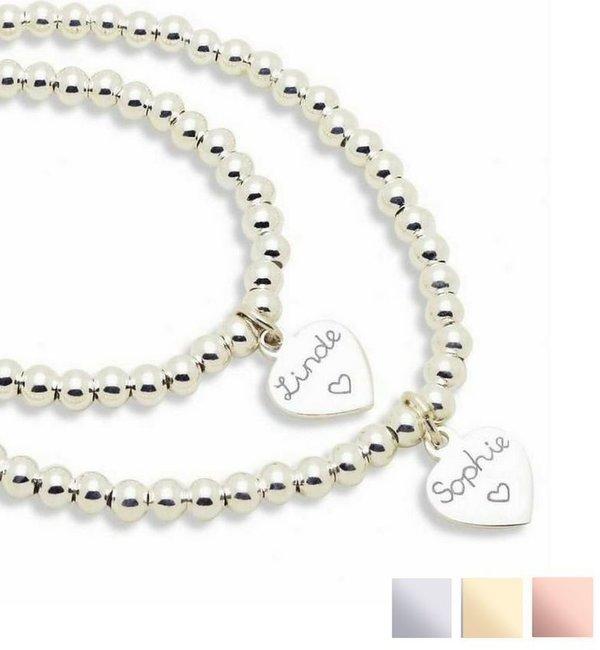KAYA sieraden Zilveren Bedelarmbanden Set 'Cute Balls'