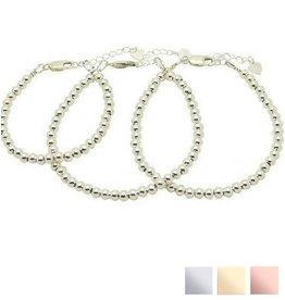 KAYA 3 Zilveren Armbanden 'Cute Balls'