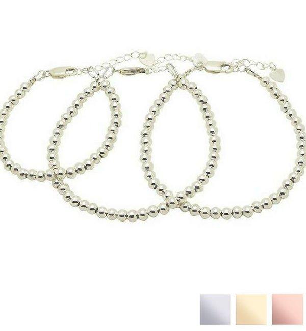 """Sieraden graveren 3 Silver Bracelets """"Ask yourself together ' - Copy"""