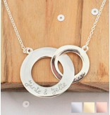 Sieraden graveren Silver necklace 'Stringed'