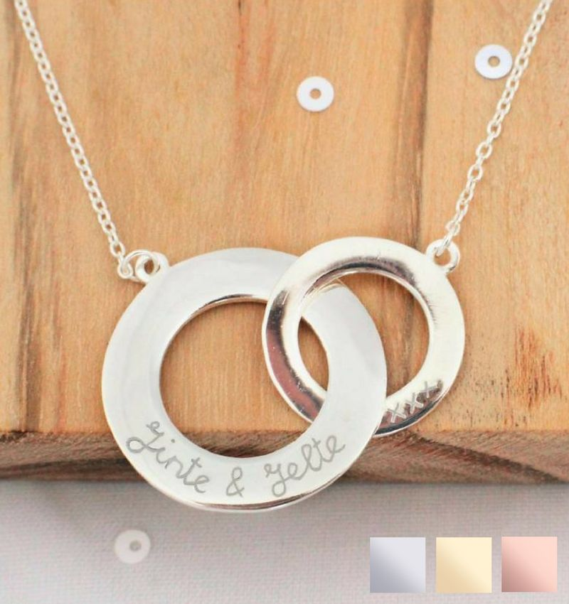Silver necklace 'Stringed'